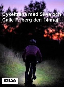 Välkommen till en cykelkväll med Silva och Calle Friberg den 14 maj
